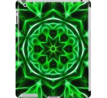 Digital abstract mandala art background iPad Case/Skin