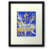 Exploding Blue Police Call Box Framed Print