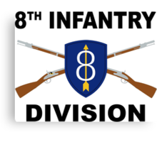 8th Infantry Division - Crossed Rifles Canvas Print