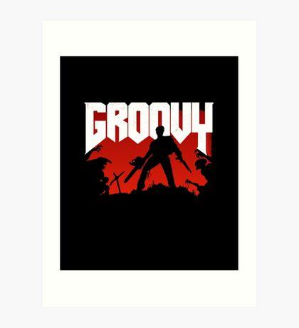 Doomy and Groovy Art Print