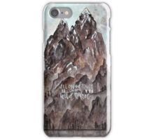 Aquarell Berge - all good things are wild & free iPhone Case/Skin