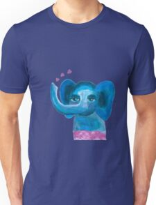 Elephant on cloud no 9 Unisex T-Shirt