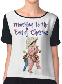 Marching to the Beat of Christmas  Chiffon Top