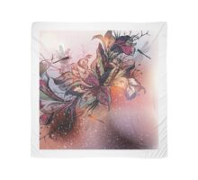 New! Brown vintage floral Art in our design atelier Scarf