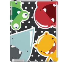 Background with cute colorful monsters iPad Case/Skin