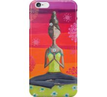 Zen Girl Under Rainbow Sky - Colorful Yoga Art iPhone Case/Skin