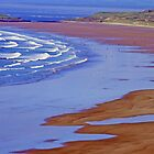 The Beach at Rhossili, Wales by Lesliebc