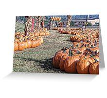 A Walk Down Pumpkin Lane Greeting Card