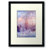 All of the Stars / City Dreams NYC (City Lights Series) Framed Print
