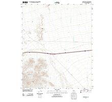 USGS TOPO Map California CA Blind Hills 20120323 TM geo Photographic Print