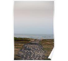 Walkway to the Ocean - Ile de Ré, France. Poster