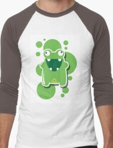 Card with cute colorful monster Men's Baseball ¾ T-Shirt