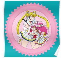 Sailor Moon & Sailor ChibiMoon Poster