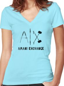 Amani Exchange! Women's Fitted V-Neck T-Shirt
