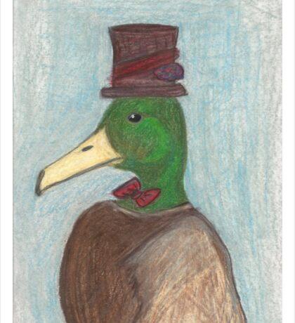 Steampunk Duck Portrait Sticker