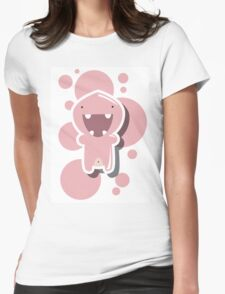 Card with cute colorful monster Womens Fitted T-Shirt