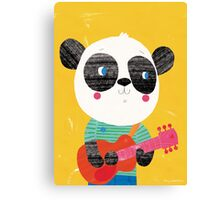 Animal Band - Panda Guitarist Canvas Print
