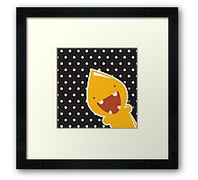 Card with cute colorful monster Framed Print
