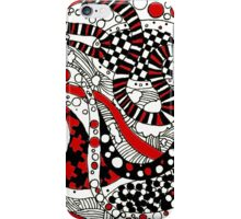 Zendoodle Orb- Red iPhone Case/Skin