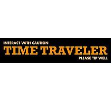 Time Traveller Waiter or Waitress Photographic Print