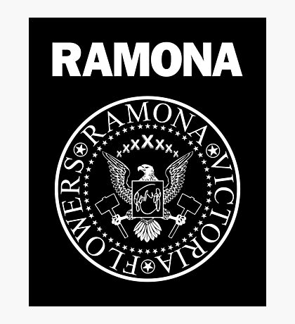 Ramona - White Photographic Print