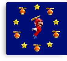Mario in the sky Canvas Print