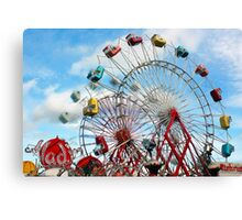 Let's Ride The Aladin Again - Fryeburg Fair Canvas Print
