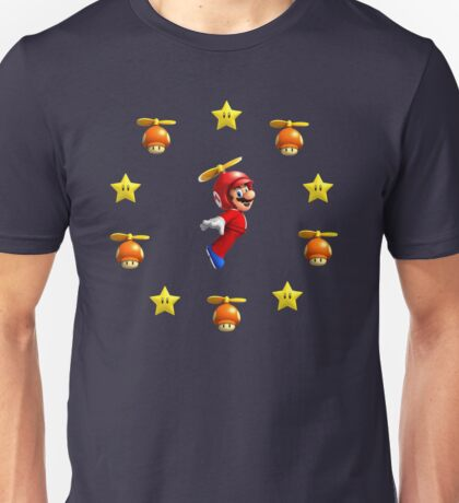 Mario in the sky Unisex T-Shirt