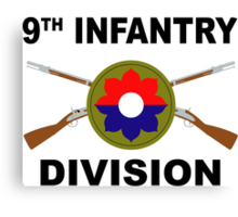 9th Infantry Division - Crossed Rifles Canvas Print