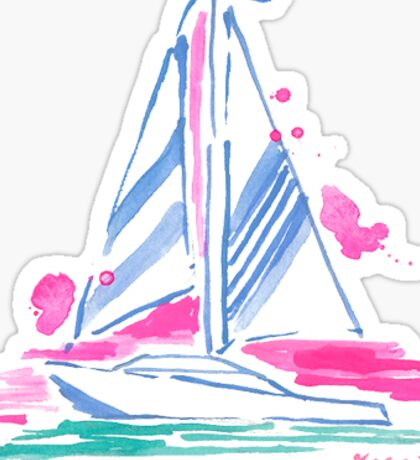 lilly pulitzer sailboat preppy Sticker