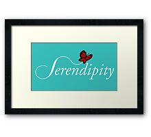Serendipity production Framed Print