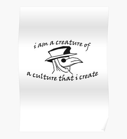 Culture That I Create - Large Design Poster