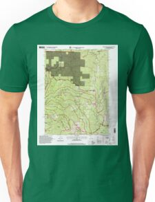 USGS TOPO Map California CA Broken Rib Mountain 100532 1996 24000 geo Unisex T-Shirt