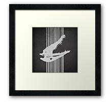 Crocodile Skull Framed Print