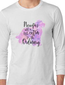 Extraordinary Newfie Watercolor Long Sleeve T-Shirt