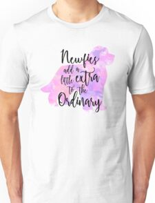 Extraordinary Newfie Watercolor Unisex T-Shirt