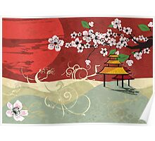 Traditional Japanese landscape Poster