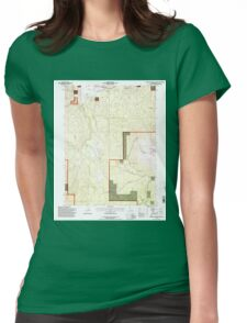 USGS TOPO Map California CA Burney Mountain West 300055 1995 24000 geo Womens Fitted T-Shirt