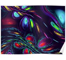 art colorful background in rainbow colors Poster