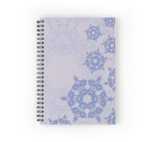 abstract design with blue geometric arabesque snowflakes Spiral Notebook