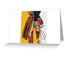 collage CLOTHES NAKED Greeting Card