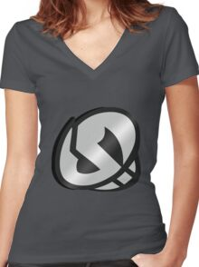 Team Skull Grunt Women's Fitted V-Neck T-Shirt