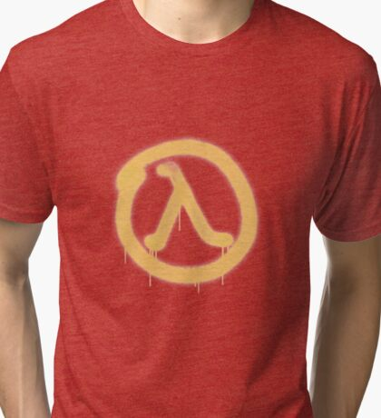 Lambda Graffiti - Half Life 2 - High Fidelity Tri-blend T-Shirt