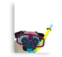 Snorkel Pug, Snorkel Pug! Does whatever a snorkel pug does!!! Canvas Print