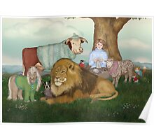 The Hand Knitted Peaceable Kingdom  Poster