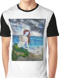 Into the Waves Original Oil Painting Prints Graphic T-Shirt