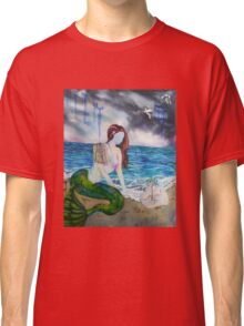 Into the Waves Original Oil Painting Prints Classic T-Shirt