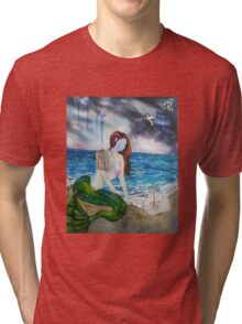 Into the Waves Original Oil Painting Prints Tri-blend T-Shirt