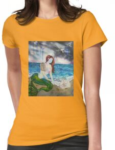 Into the Waves Original Oil Painting Prints Womens Fitted T-Shirt