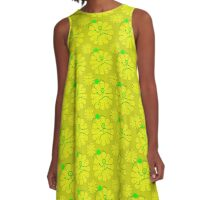 Yellow Flower Friends A-Line Dress